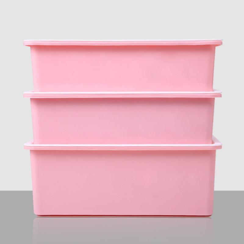 内衣收纳盒塑料桌面文胸内裤袜子储物抽屉式整理箱加厚有盖三件套