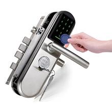 卡多利亚防盗门密码锁 家用室内门刷卡锁IC卡不锈钢锁电子锁工厂