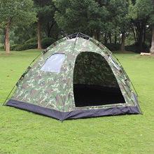 户外自动帐篷 迷彩8-10人5窗自动六角野营帐篷户外防雨帐篷