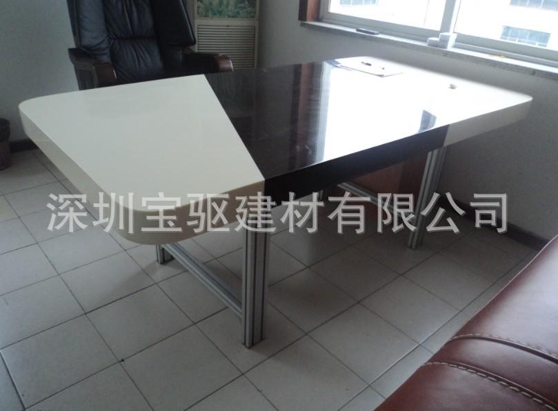 厂家供应广州人造石亚克力厨柜台面 成套餐桌椅 加工订制各种造型