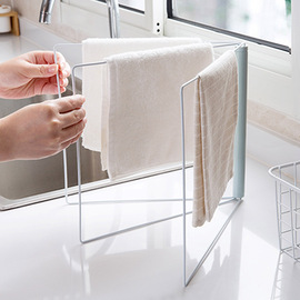 Vertical collapsible rag rack kitchen wipe shelf toilet punch-free table towel rack 178g