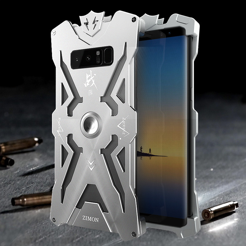 SIMON THOR Magnetic Bracket Aviation Aluminum Alloy Shockproof Armor Metal Case Cover for Samsung Galaxy Note 8