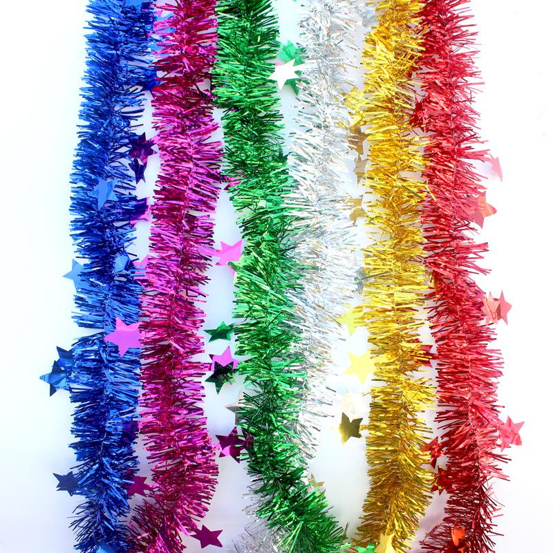 九洲豪新款直供聖誕婚慶六壹裝飾用品彩條彩帶塑料毛條拉花