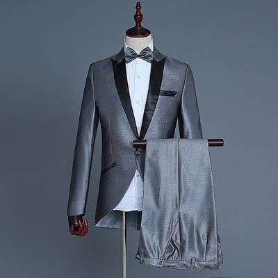 men's jazz dance suit blazers Magician small Tuxedo Suit men bel canto conductor show dress coat nightclub bar