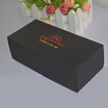 金顺太阳眼镜包装盒现货批发白色黑色蓝色红色卡纸定制烫金印刷