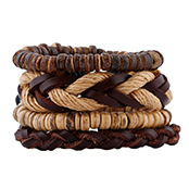 2019 New Vintage Woven Leather Bracelet Simple Bracelet Bracelet Adjustable NHPK188563