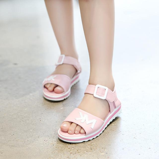 Giày dép nữ 2019 mới đi biển phiên bản Hàn Quốc của các sinh viên trinh nữ lớn mùa hè Dép trẻ em