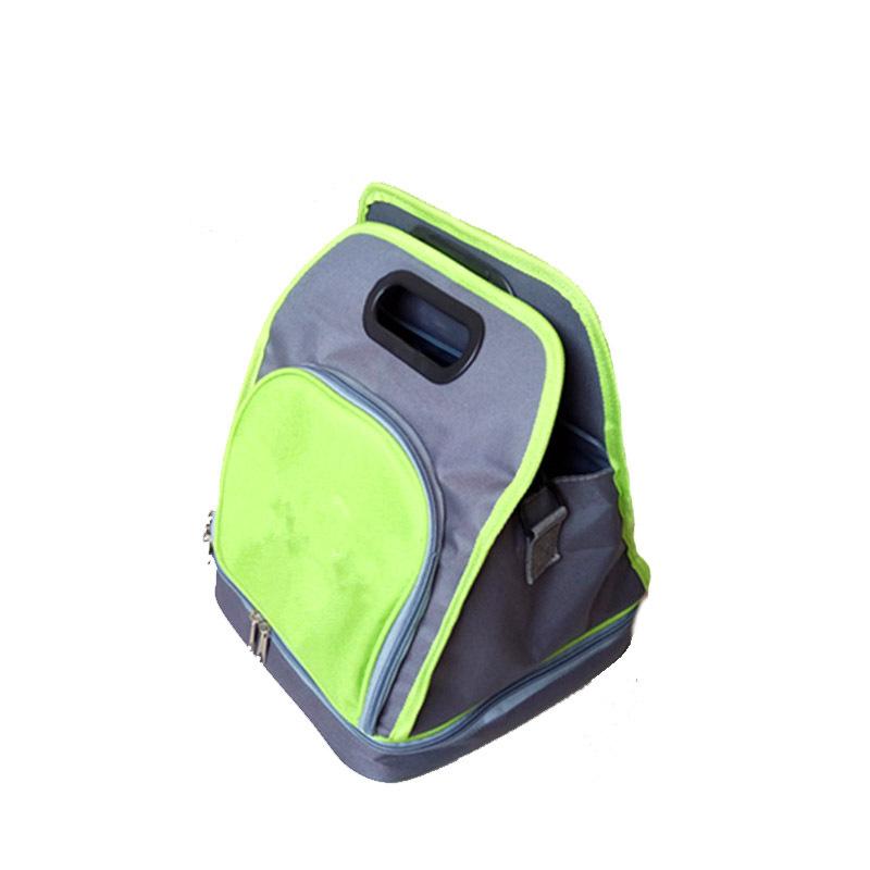 绿色保温冰包 双层饭盒包 单间保温冰袋 午餐包户外出行包