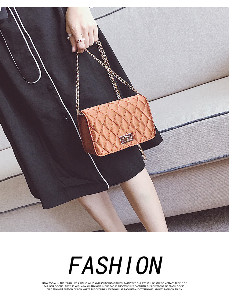Korean version PUfashion bag (brown)NHPB0235-brown