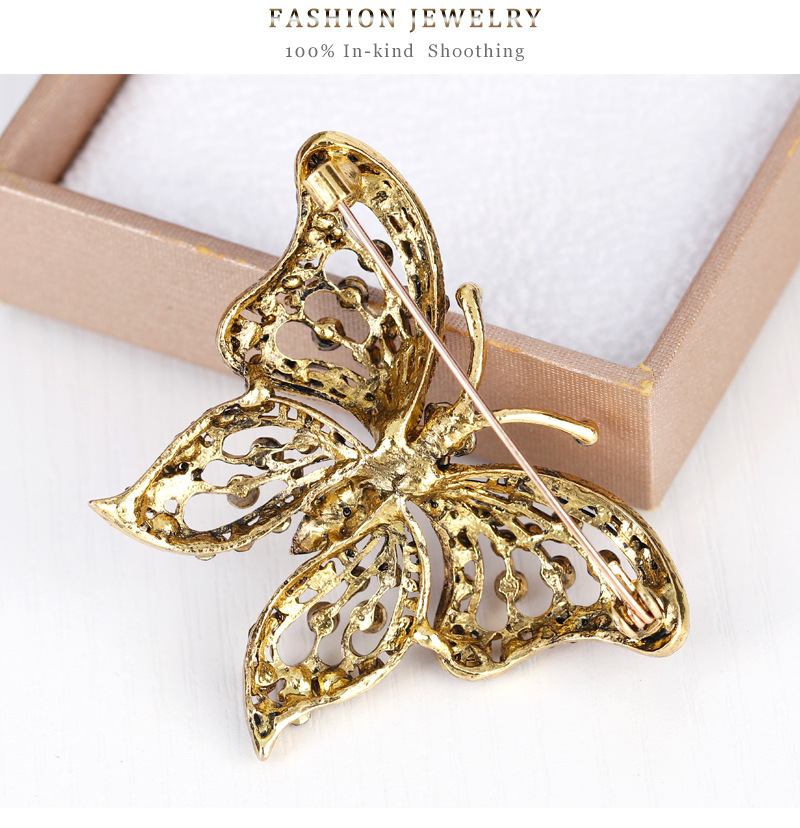 Korean version alloy Diamond brooch (AG031-A)NHDR1882-AG031-A