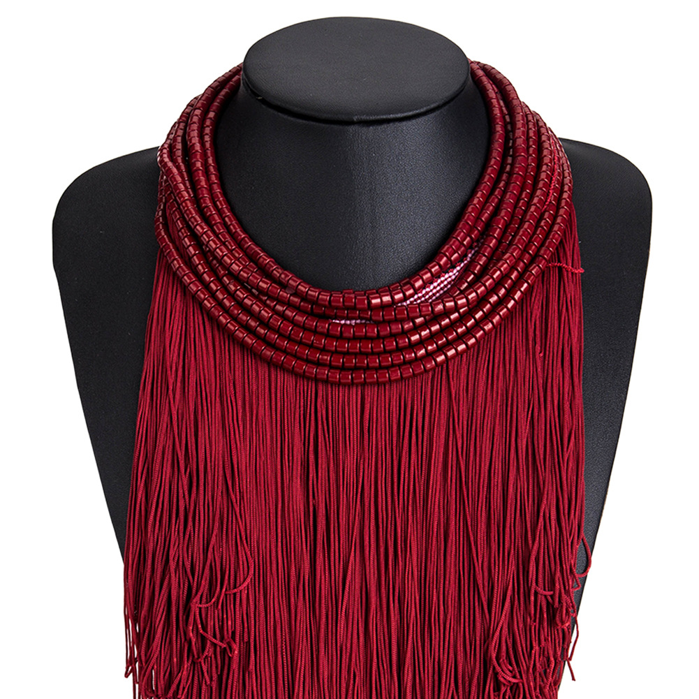 Fashion Alloy hand made necklace Geometric (red)  NHJE0647-red