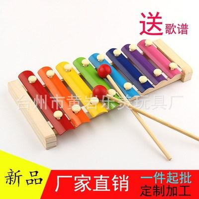 厂家批发木制手敲琴儿童八音敲琴打击乐器奥尔夫乐器beplay官网体育进入音乐玩具