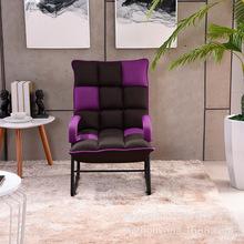 厂家批发新款日式休闲懒人沙发午休椅 阳台卧室单人沙发布艺躺椅