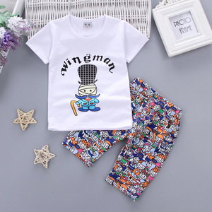 Children wear short sleeved cotton clothing manufacturers selling children cartoon Doll Pattern's explosion of Korean br