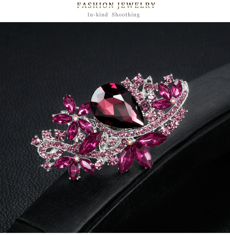 Alloy Fashion Flowers A brooch(White K baaelan 008-f) NHDR2673-White-K-baaelan-008-f