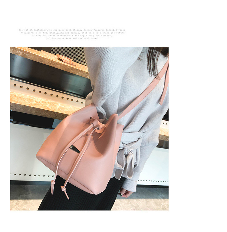 Simple iron bucket bag retro casual handbag NHXC141613
