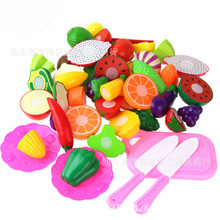 Kitchen play house toys, cut flowers, fruits and vegetables, girl simulation teaching aids, children's educational foreign trade