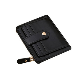 Factory first layer leather card holder card bag Fashion casual mini zipper coin holder