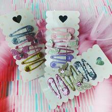 儿童发夹韩国时尚饰品小宝宝发饰精品水滴夹六件套10元店精品货源