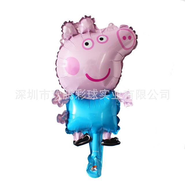 新款迷你猪小妹铝箔气球小猪佩琪装饰气球儿童宝宝生日宴会派对球