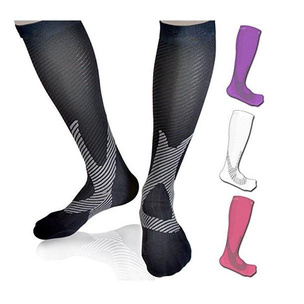 热卖款尼龙丝压力袜 护腿跑步男女压缩成人袜 韩版网红压力袜