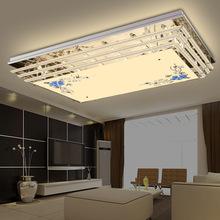 现代简约卧室餐厅灯具 led水晶吸顶灯 客厅灯长方形 灯饰 批发