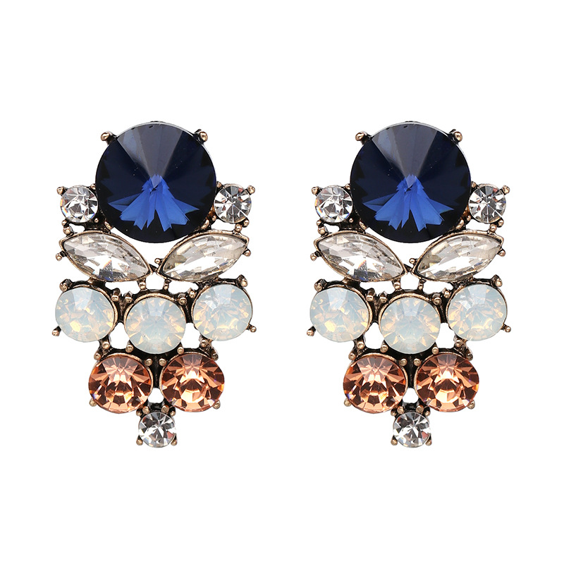 Other Imitated crystal&CZ  Earrings Geometric (Photo Color)  NHJJ3756-Photo Color