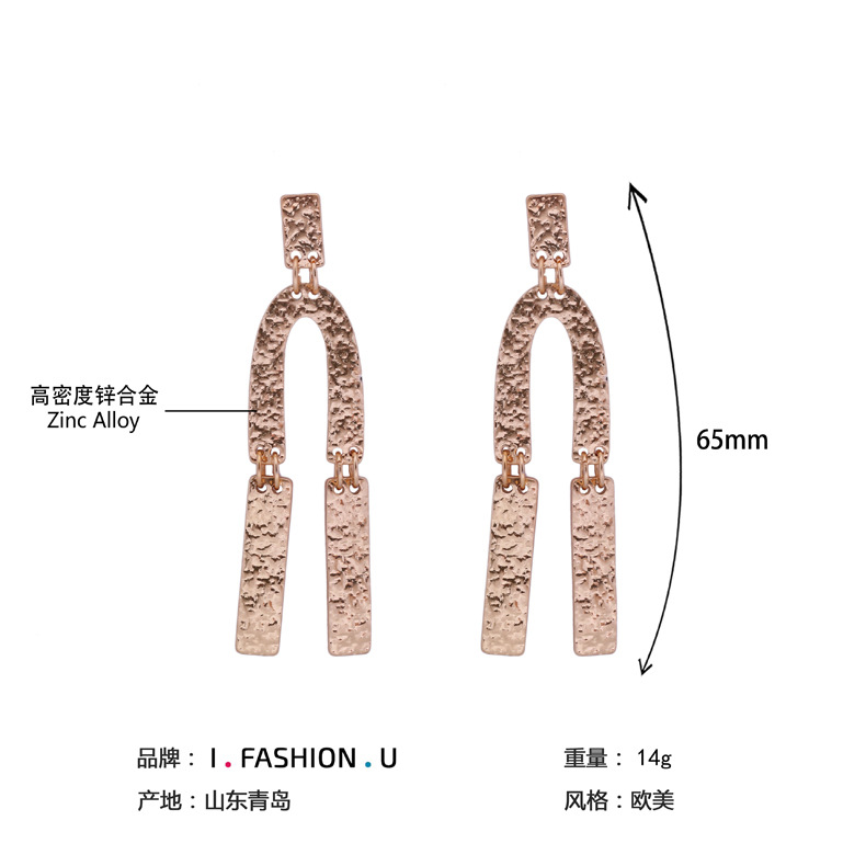 Occident and the United States alloy plating earring (Sample color)NHBJ0277-Sample color