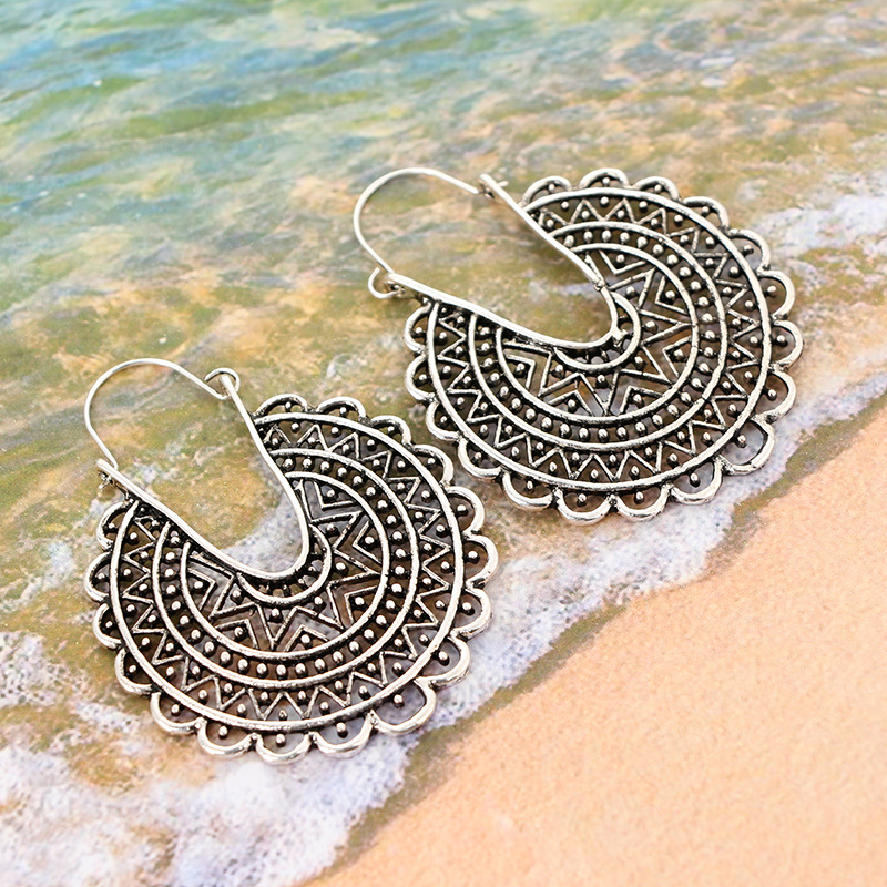 Retro alloy plating earring NHGY0642