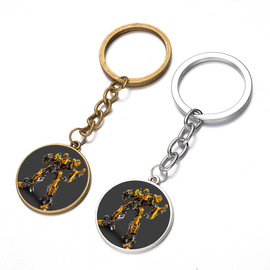 Popular film and television jewelry key chain Transformers time gem key chain pendant gift
