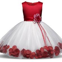 歐美外貿爆款童裙 女童玫瑰花連衣裙花童婚紗禮服蓬蓬裙演出童裝