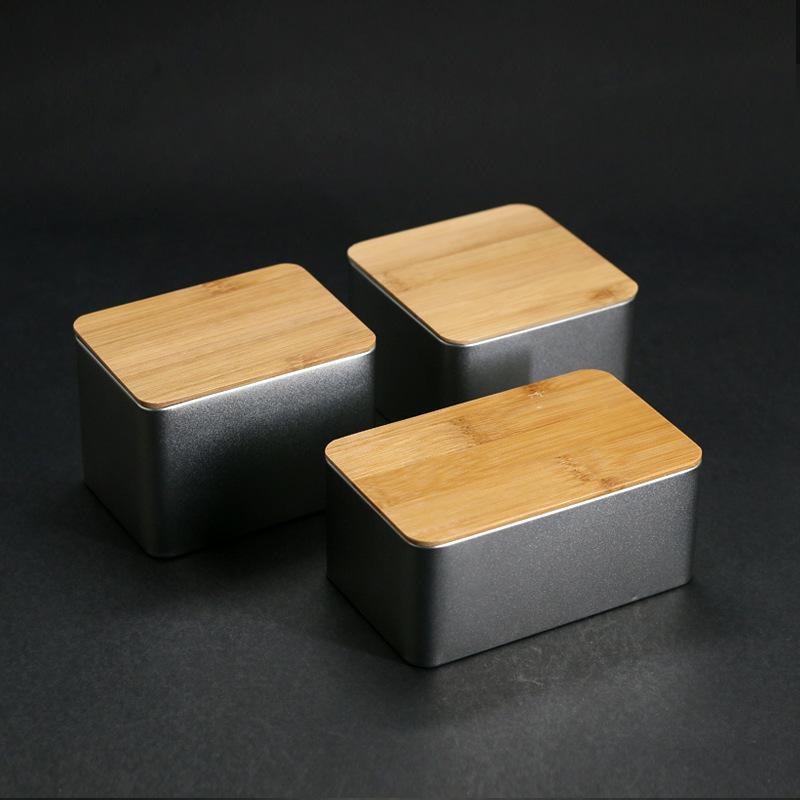 竹制创意燕窝通用红茶绿茶茶叶包装盒金属马口铁盒空盒定制批发