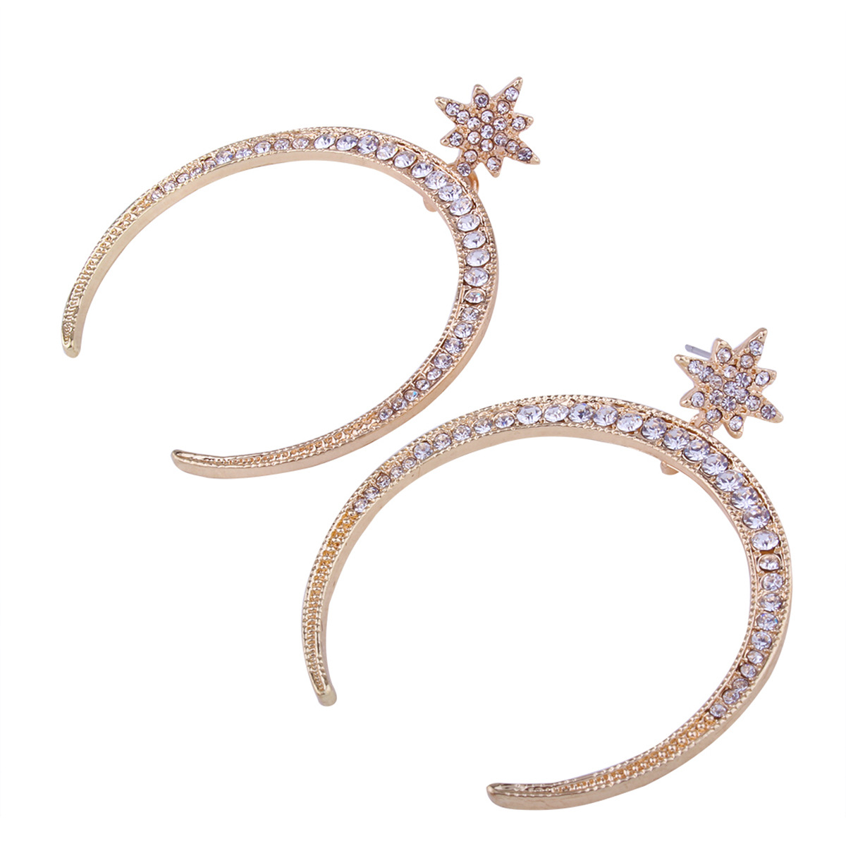 Occident and the United States alloy Diamond earring (Gold)NHNMD3749-Gold