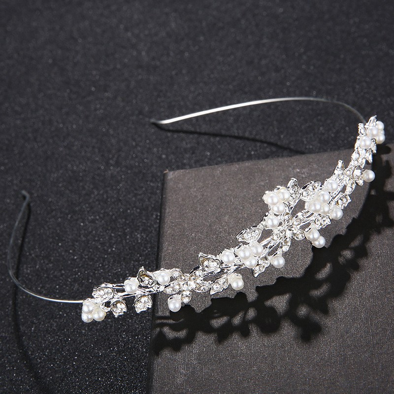 Imitated crystal&CZ Fashion Geometric Hair accessories  (Alloy) NHHS0164-Alloy