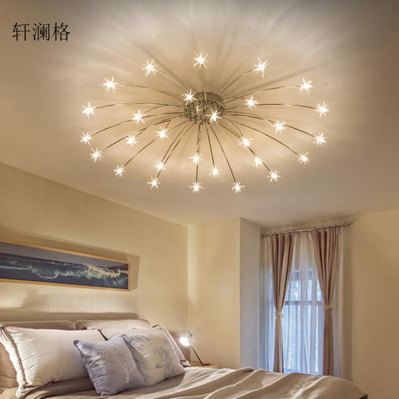 吸顶灯现代简约满天星吸顶灯北欧餐厅灯具个性酒店客厅卧室吸顶灯