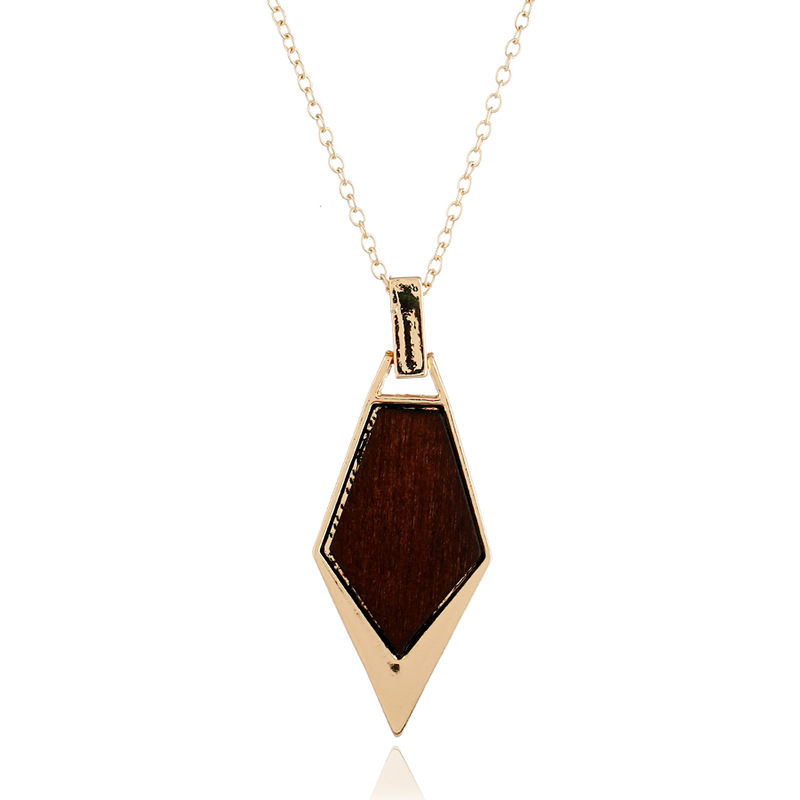 Fashion Alloy plating necklace Geometric (Coffee color)  NHNZ0338-Coffee color