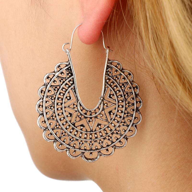Retro alloy plating earring NHGY0642