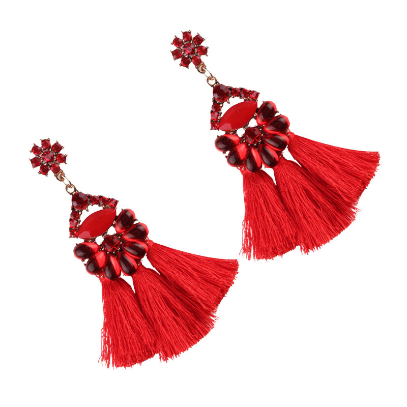Exotic alloy hand made earring (color)NHJQ9204-color