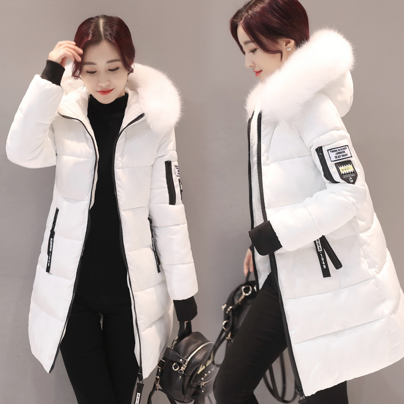 Women's Middle Slim and Thickened Small Cotton Padded Jacket