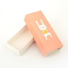 袜子包装盒 内裤包装盒现货 抽屉式包装纸盒 儿童袜包装盒 卡通兔