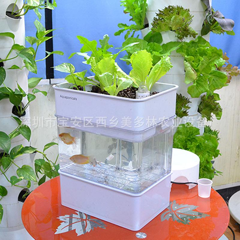工廠直銷出口鱼缸水族箱小型生态鱼菜共生系统亚克力创意桌面魚缸