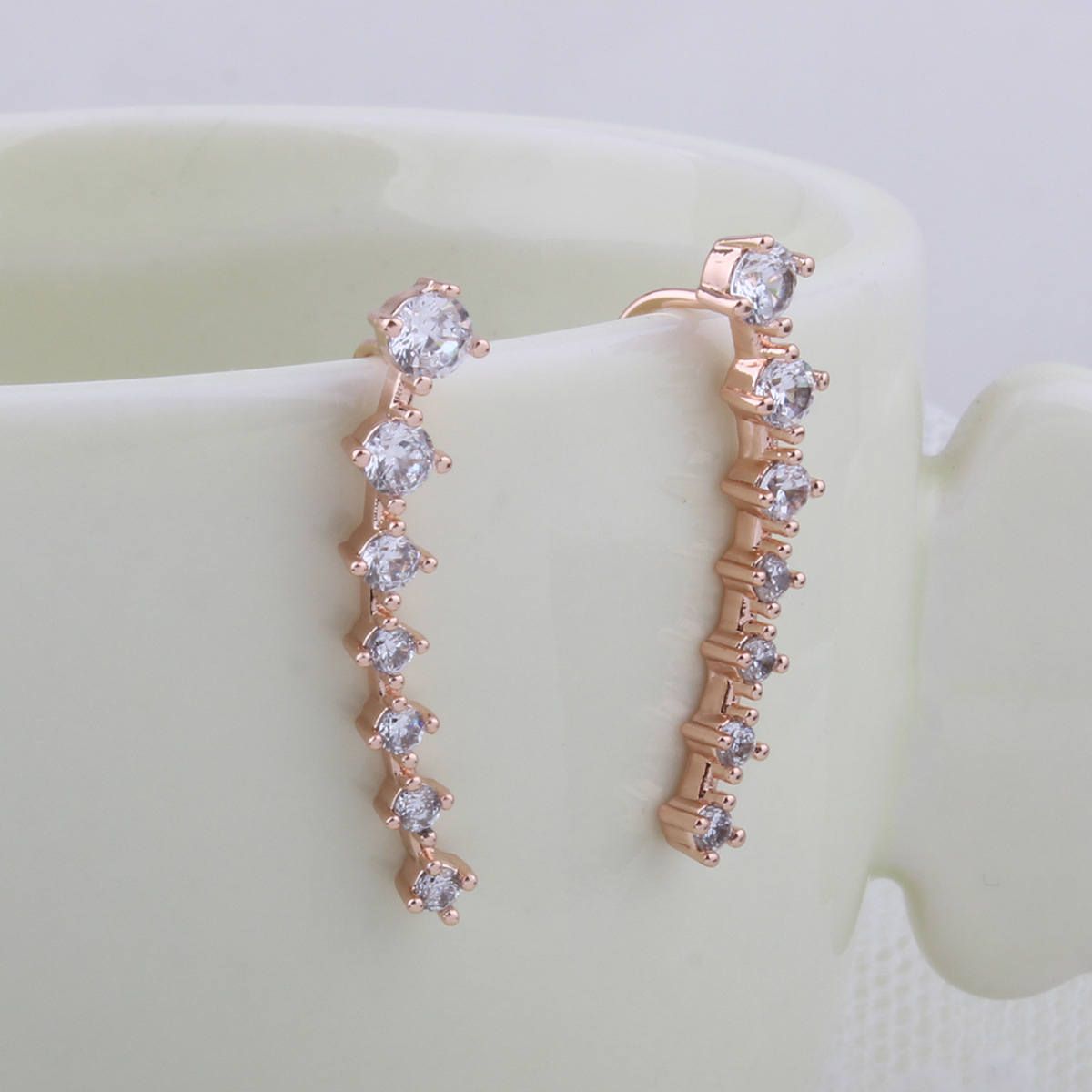 Korea style alloy plating earring (Rose gold)NHNMD3812-Rose gold