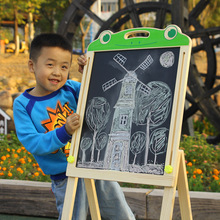 Children's drawing board Double-sided magnetic writing board Puzzle science wooden toy lifting painting blackboard