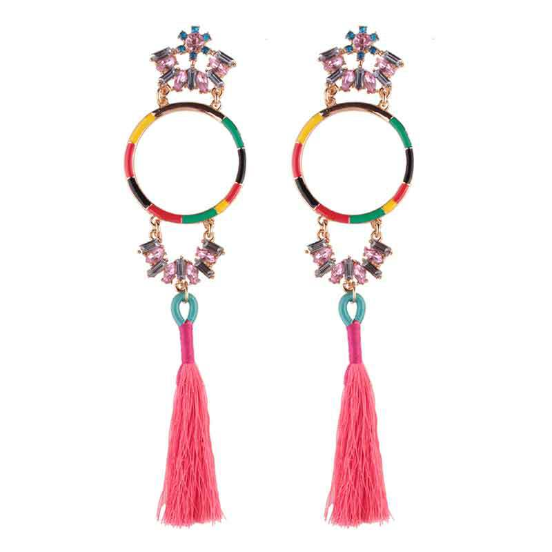 Occident and the United States alloy hand made earring (color)NHJQ9298-color