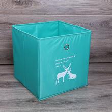桌面牛津布收纳盒带把手可折叠家居衣物收纳箱可水洗超轻PP板定做