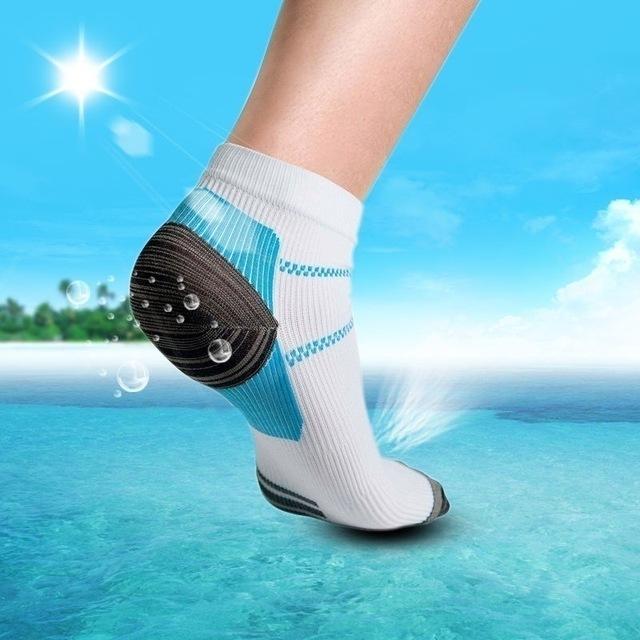 压缩 袜子足底筋膜跟马刺拱疼痛 WISH爆款 尼龙竞走袜 运动袜橡筋
