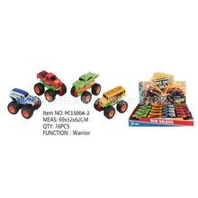 儿童玩具车 双惯性四驱大轮越野合金车 迷你小汽车模型?#25925;?#30418;16只