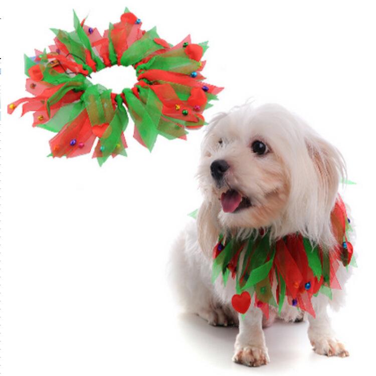 狗用品工厂批发宠物圣诞节用品领圈万圣节彩带颈围狗圣诞帽子微薄