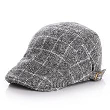 17华南秋冬款儿童帽 毛呢格儿童贝雷帽子宝宝鸭舌帽子前进帽韩版