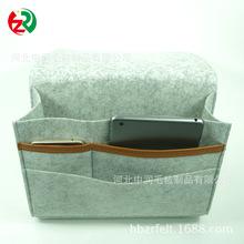 亚马逊热卖毛毡床头挂袋 felt bedside caddy环保毛毡收纳盒